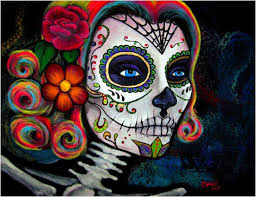 colorful 3 5 sugar skull area rug sugar skull bedding