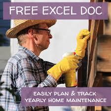 Home Maintenance Spreadsheet by Stayin Cool Pretty Purple Door