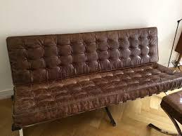 barcelona canapé barcelona canapé mies der rohe marron et ottoman