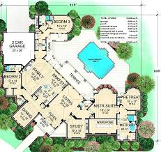 large luxury home plans luxury villa plans designs plan 36121tx rear facing oasis with