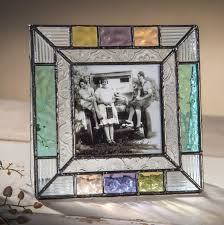 3x3 stained glass picture frame square photo frame colorful summer