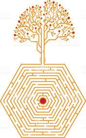 maze with tree stock vector 604870376 istock