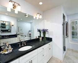 bathrooms with white cabinets floor tile countertops black and white bathroom cabinets with