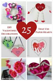 valentines decorations easy diy decorations that use paper hearts