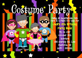 halloween costume party birthday party invitation kids boy