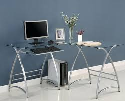 computer desk glass metal metal and glass computer desks black metal glass computer desk
