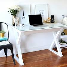 Metal Computer Desk 48 Inch White Glass Metal Computer Desk Free Shipping Today