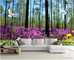 3d room wallpaper custom photo non woven mural beautiful forest