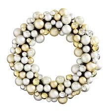williams gold silver ornament wreath