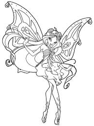 Winx Club Coloring Pages Winx Club 4 Free Printable