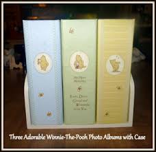 winnie the pooh photo album free adorable set of 3 winnie the pooh photo album set with stand