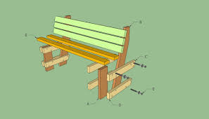 plans for outdoor bench