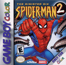 spider man 2 sinister 2001 game boy color box cover art