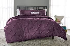 Plum Bed Set Colormate Solid Pintuck Comforter Set Plum Home Bed Bath