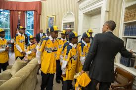 president obama welcomes the jackie robinson west all stars to the