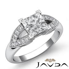 details about princess diamond v shape shank pave engagement ring