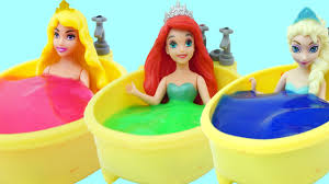 disney princess slime bath time slime learn colors toys family