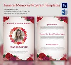 memorial service programs templates free 5 funeral memorial program templates word psd format