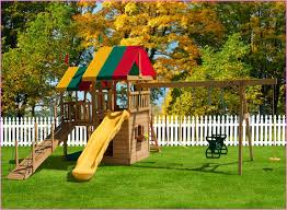 Kids Backyard Fun Backyard Fun For Kids With Wooden Material And Swing Also Outdoor