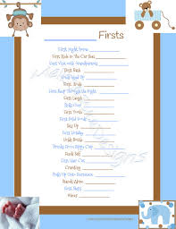baby boy memory book instant printable scrapbook baby s firsts page memory