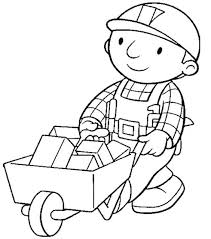 bob builder encourage rickshaw coloring kids coloring