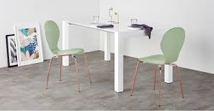 set of 2 dining chairs mint green and copper kitsch made com