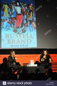 david baddiel and russell brand at a photocall for his book