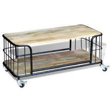 mango wood coffee table with storage vidaxl solid mango wood wooden coffee table living room furniture