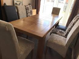 oak large extending dining table 8 chairs in newcastle tyne