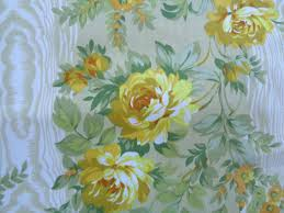 vintage gold flower floral brocade upholstery fabric by the yard