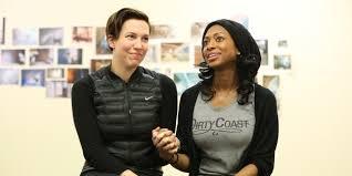 Interacial Lesbians - tanya barfield s bright half life traces a lesbian couple s