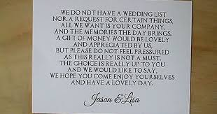 Wedding Gift Registry Search Image Collections Wedding by Wedding Money Request Poem Cards Honeymoon Wish List Cards Ebay