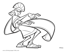 98 emperors groove coloring pages free coloring