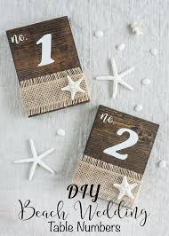 table numbers wedding how to make your own wedding table numbers