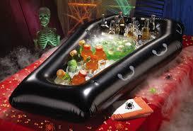inflatable coffin halloween cooler buffet the green head