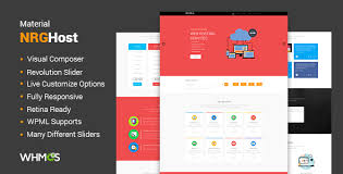 themed material material web hosting theme whmcs by nrgthemes