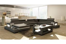 White Leather Sectional Sofa Contemporary U0026 Luxury Furniture Living Room Bedroom La Furniture