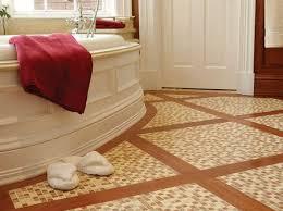 Mosaic Bathroom Floor Tile Ideas Mosaic Bathroom Floor Tile Ideas With Brown Colors Theme Home