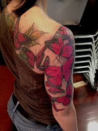 shoulder and arm butterfly tattooo tattoomagz