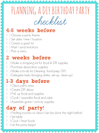 Partystore Com General Birthday Lets Party Planning Checklist Connect With M U0026d Pinterest Party