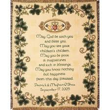 wedding blessing personalized wedding blessing cotton throw