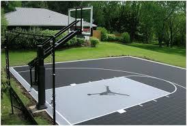 Backyard Tennis Courts by Backyards Beautiful Basketball Court Backyard Cost Modern