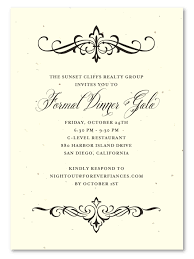 fancy invitations financial invitations on seeded paper