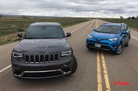 grand cherokee jeep 2016 2016 jeep grand cherokee diesel vs toyota rav4 hybrid mpg mashup