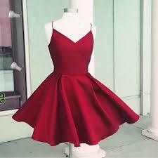 semi formal dress prom dress v neck homecoming dress burgundy homecoming dress