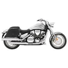 honda vtx 1800 f motorcycle saddlebags spear shock cutout leather