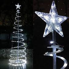 led christmas tree 6ft 5ft clear led lighted spiral christmas tree color option