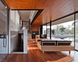 ka modern vacation home by idin architects caandesign vacation home from the swimming pool outside details wood interior design