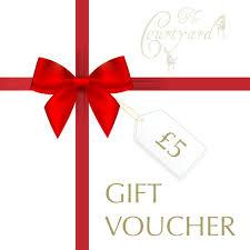 5 gift card the courtyard gift voucher 5
