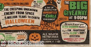 the horrors of halloween halloween horrorthon poster by crash